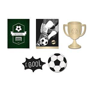 Kit Cartaz Decorativo Festa Futebol - 6 unidades - Cromus - Rizzo Festas