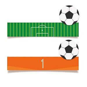 Adesivo Retangular para Lembrancinha Festa Futebol - 20 unidades - Cromus - Rizzo Festas