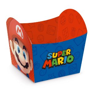 Mini Cachepot Festa Mario - 10 unidades - Cromus - Rizzo Festas