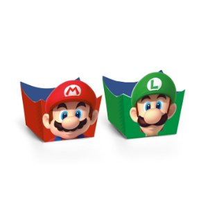 Forminha para Doces Cachepot Festa Mario - 24 unidades - Cromus - Rizzo Festas