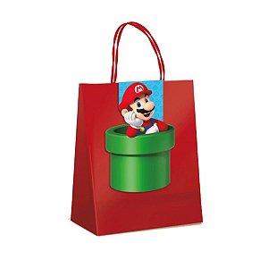 Sacola de Papel para Lembrancinha Festa Mario - 10 unidades - Cromus - Rizzo Festas