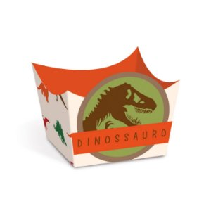 Forminha para Doces Cachepot Festa Dinossauro - Dinossauro - 24 unidades - Cromus - Rizzo Festas