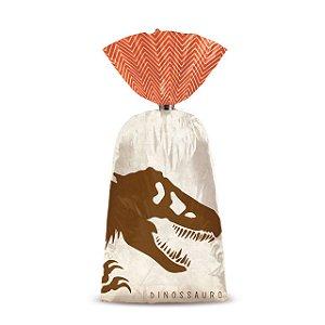Sacolinha p Lembrancinha Festa Dinossauro - 8 unidades - Cromus - Rizzo Festas