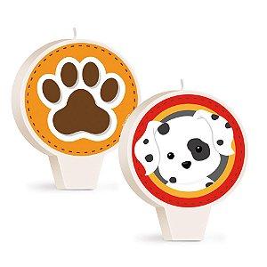 Vela Dupla Face Festa Cachorrinhos - Cromus - Rizzo Festas