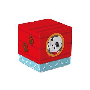 Caixa Cubo Festa Cachorrinhos - 8 unidades - Cromus - Rizzo Festas