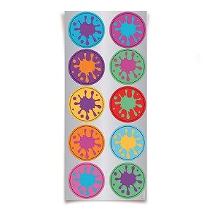Adesivo Redondo para Lembrancinha Festa Cores - 30 unidades - Cromus - Rizzo Festas