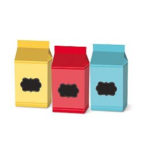 Caixa Leiteira Festa Cores - 8 unidades - Cromus - Rizzo Festas