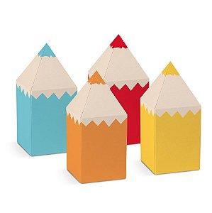 Caixa Lápis Festa Cores - 8 unidades - Cromus - Rizzo Festas