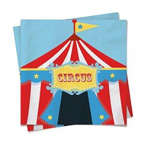 Guardanapo Festa Circo - 20 unidades - Cromus - Rizzo Festas