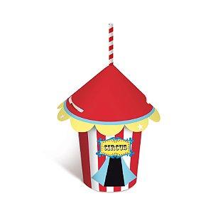 Copo de Papel Tenda Festa Circo 240Ml - 8 unidades - Cromus - Rizzo Festas