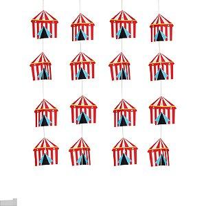 Cortina Decorativa Festa Circo - 4 unidades - Cromus - Rizzo Festas