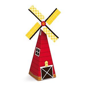 Caixa Mini Cone Moinho Festa Fazendinha - 8 unidades - Cromus - Rizzo Festas