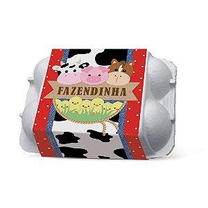 Caixa para Ovos Festa Fazendinha - 6 unidades - Cromus - Rizzo Festas