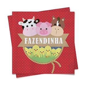 Guardanapo Festa Fazendinha Bichinhos - 20 unidades - Cromus - Rizzo Festas