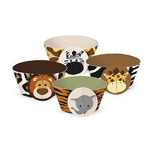 Forminha Wrap p Cupcake Festa Safari - 12 unidades - Cromus - Rizzo Festas
