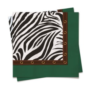 Guardanapo Festa Safari Zebra - 20 unidades - Cromus - Rizzo Festas