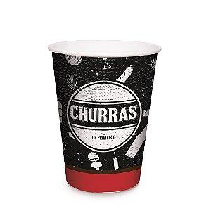 Copo de Papel Festa Churrasco 240ml - 8 unidades - Cromus - Rizzo Festas