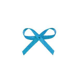 Laço Cetim Mosquitinho - Azul Turquesa - 100 unidades - Rizzo Embalagens