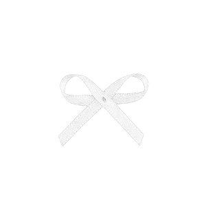 Laço Cetim Mosquitinho - Branco - 100 unidades - Rizzo Embalagens