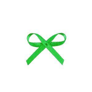 Laço Cetim Mosquitinho - Verde - 100 unidades - Rizzo Embalagens