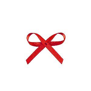 Laço Cetim Mosquitinho - Vermelho - 100 unidades - Rizzo Embalagens
