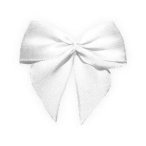 Laço Cetim Gravatão - Branco - 10 unidades - Rizzo Embalagens