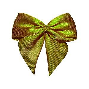 Laço Cetim Gravatão - Dourado - 10 unidades - Rizzo Embalagens