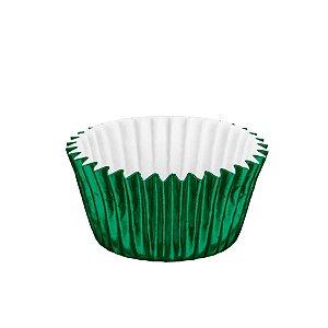 Forminhas para Doces Metalizada Nº 4 Verde 50 unidades Mago Rizzo Embalagens