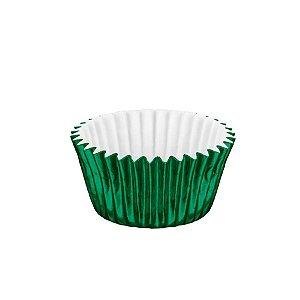 Forminhas para Doces Metalizada Nº 5 Verde 50 unidades Mago Rizzo Embalagens