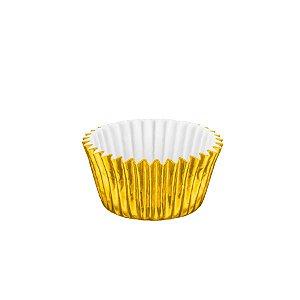 Forminhas para Doces Metalizada Nº 6 Ouro 50 unidades Mago Rizzo Embalagens