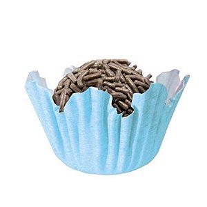 Forminhas para Doces N° 3 Recortada Azul Bebê com 100 unidades Mago Rizzo Embalagens