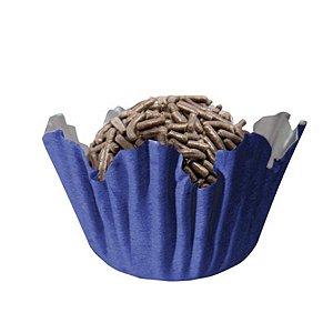 Forminhas para Doces N° 3 Recortada Azul Royal com 100 unidades Mago Rizzo Embalagens