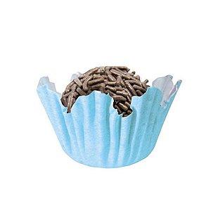 Forminhas para Doces N° 4 Recortada Azul Bebê com 100 unidades Mago Rizzo Embalagens
