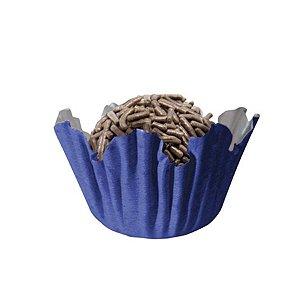 Forminhas para Doces N° 4 Recortada Azul Royal com 100 unidades Mago Rizzo Embalagens