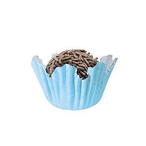 Forminhas para Doces N° 5 Recortada Azul Bebê com 100 unidades Mago Rizzo Embalagens