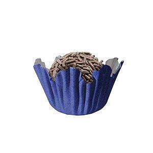 Forminhas para Doces N° 5 Recortada Azul Royal com 100 unidades Mago Rizzo Embalagens