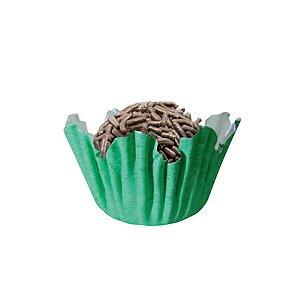 Forminhas para Doces N° 5 Recortada Verde Bandeira com 100 unidades Mago Rizzo Embalagens