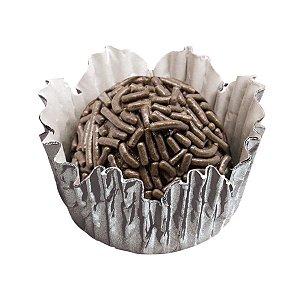 Forminhas para Doces N° 3 Recortada Prata Metalizada com 50 unidades Mago Rizzo Embalagens