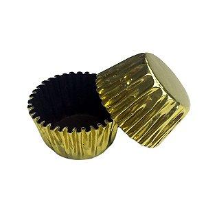 Forminhas para Doces N° 5 Ouro Fora e Marrom por Dentro com 50 unidades Mago Rizzo Embalagens