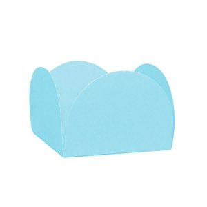 Forminhas para Doces 4 Pétalas Azul Claro 50 unidades NC Toys