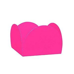 Forminhas para Doces 4 Pétalas Rosa Neon 50 unidades NC Toys Rizzo Embalagens