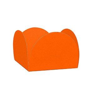 Forminhas para Doces 4 Pétalas Laranja Neon 50 unidades NC Toys Rizzo Embalagens