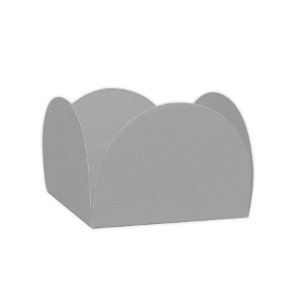 Forminhas para Doces 4 Pétalas Prata 50 unidades NC Toys Rizzo Embalagens