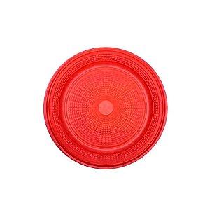 Prato Bolo Descartável 15cm Vermelho 10 unidades Trik Trik Rizzo Embalagens
