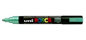 Caneta Posca PC-5M 2,5mm Metallic Green_Verde Metalico - 01 unidade - Uni Posca - Rizzo Embalagens