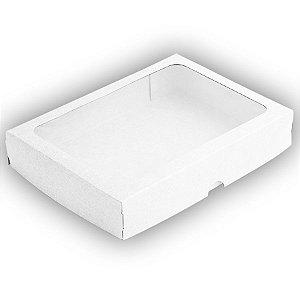 Caixa com Visor S5 (16cm x 22cm x 4cm) Branca 10 unidades Assk Rizzo Embalagens