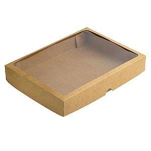 Caixa com Visor S10 (22cm x 29cm x 4,5cm) Kraft 10 unidades Assk Rizzo Embalagens