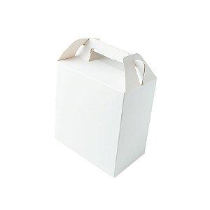 Caixa Sacolinha S1 (9,5cm x 6,5cm x 4,5cm) Branca 10 unidades Assk Rizzo Embalagens