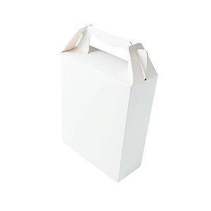 Caixa Sacolinha S3 (18cm x 16m x 6cm) Branca 10 unidades Assk Rizzo Embalagens