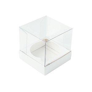 Caixa Mini Bolo G (8cm x 8cm x 8cm) Branca - 10 unidades - Assk - Rizzo Embalagens